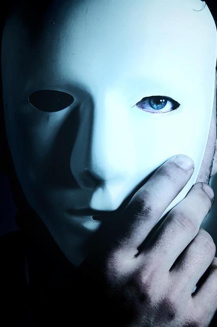 Maske, aufdecken